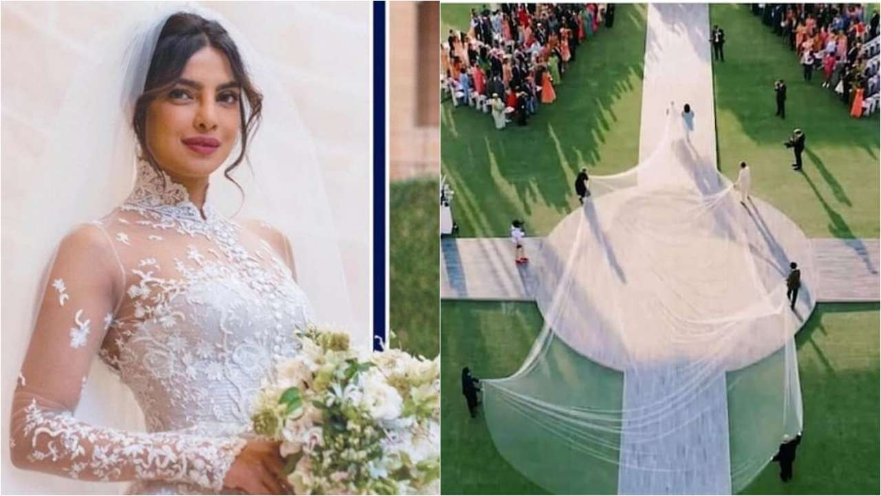 Priyanka Chopra S Wedding Gown Has These 5 Special Things Sewn On It