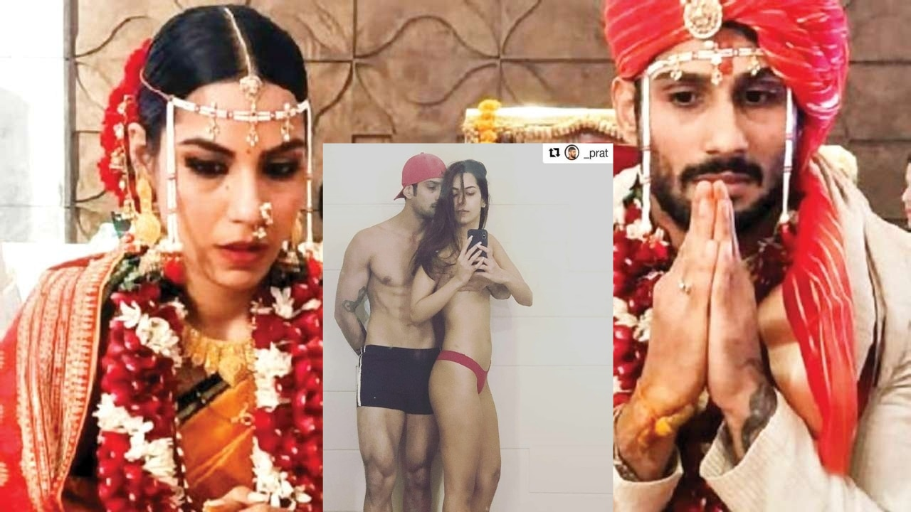 Prateik Babbar deletes controversial topless picture with Sanya Sagar after getting massively trolled on Instagram