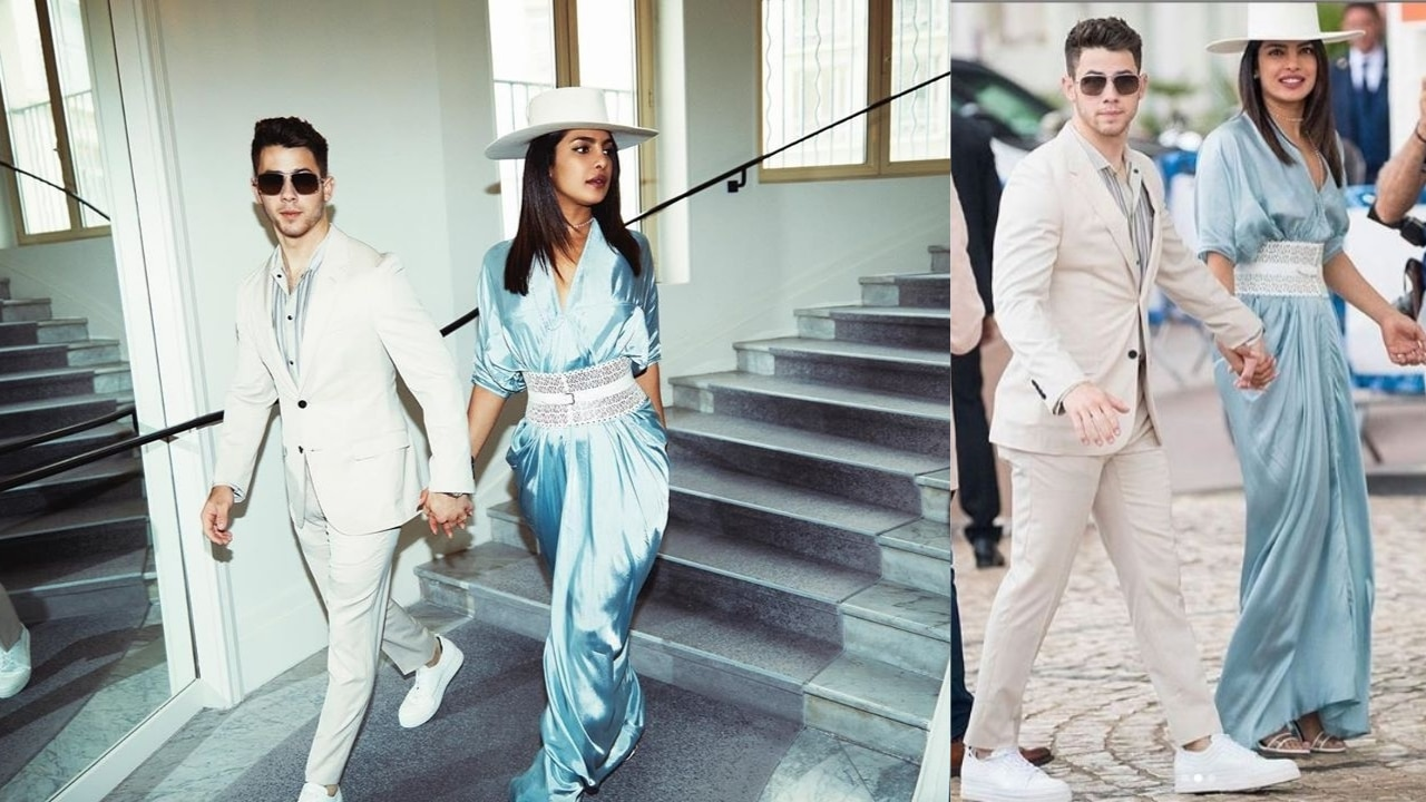 Image result for Cannes 2019: Priyanka Chopra and Nick Jonas walk hand-in-hand at French Riviera