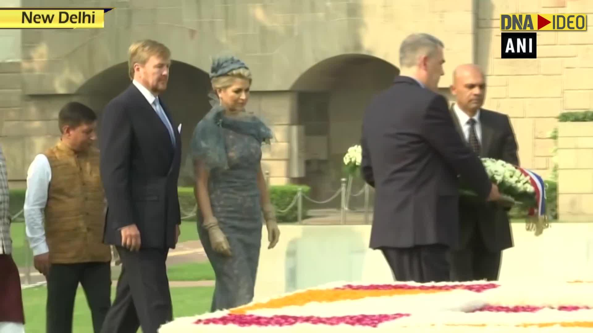 King, Queen of Netherlands pay tribute to Mahatma Gandhi at Rajghat