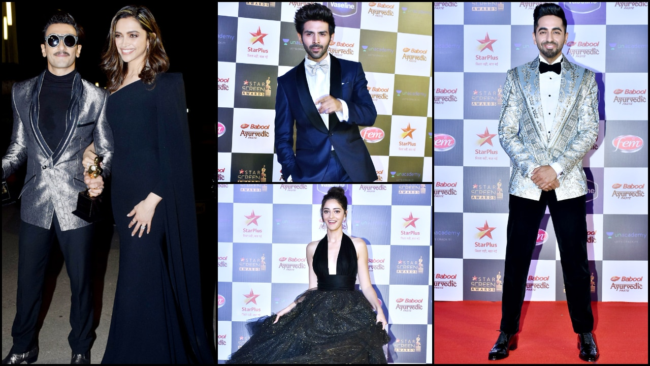 Star Screen Awards 2019: Deepika Padukone-Ranveer Singh, Kartik Aaryan, Ananya Panday, Ayushmann shine on red carpet