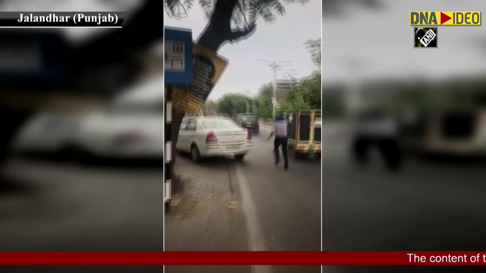 Watch Man Drags Police Officer On Bonnet Of His Car In Jalandhar Detained