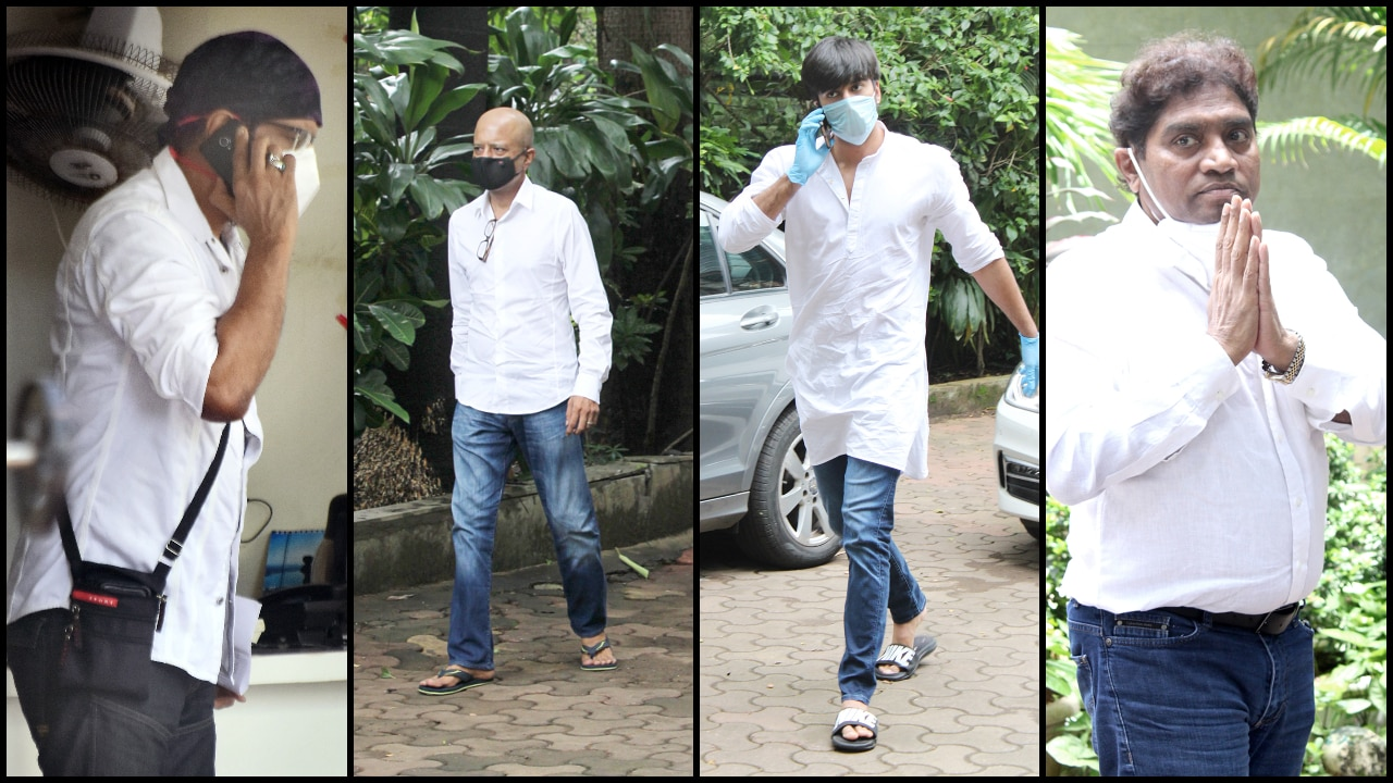 Photo of Jagdeep funeral: Javed Jaffrey, Naved, Meezaan, Johnny Lever pay last respects