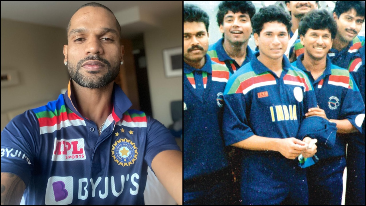 IND vs AUS: Shikhar Dhawan's selfie with Team India's new retro jersey  reminds fans of 1992 WC