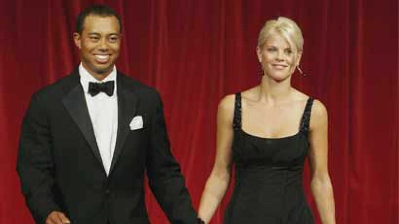 Tiger Woods and ex-wife Elin Nordegren pictured together ...