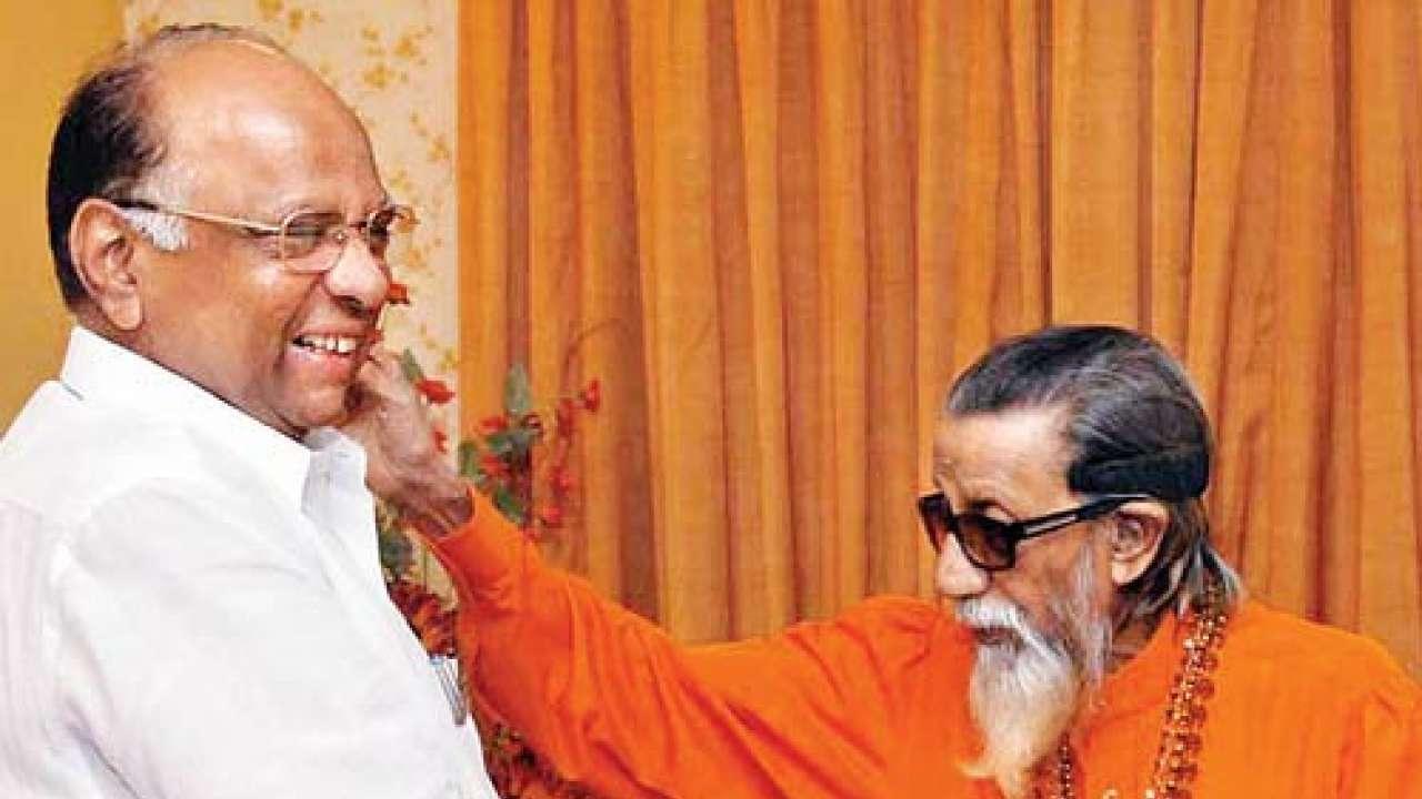 Image result for sharad pawar and balasaheb thackeray