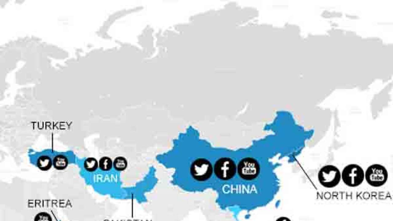 Map countries that have blocked facebook twitter and youtube gumiabroncs Choice Image