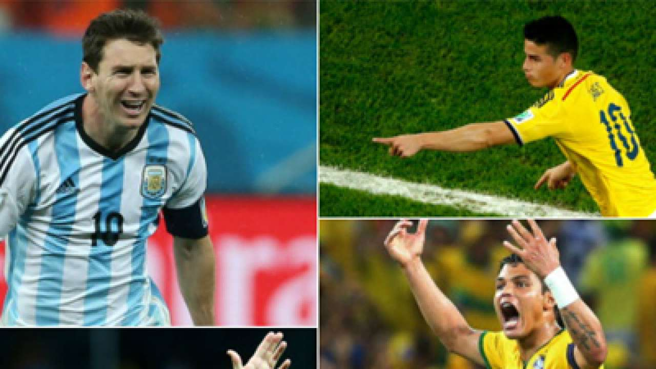 Fifa world cup 2014 lionel messi neymar arjen robben and other fifa world cup 2014 lionel messi neymar arjen robben and other top performers voltagebd Image collections