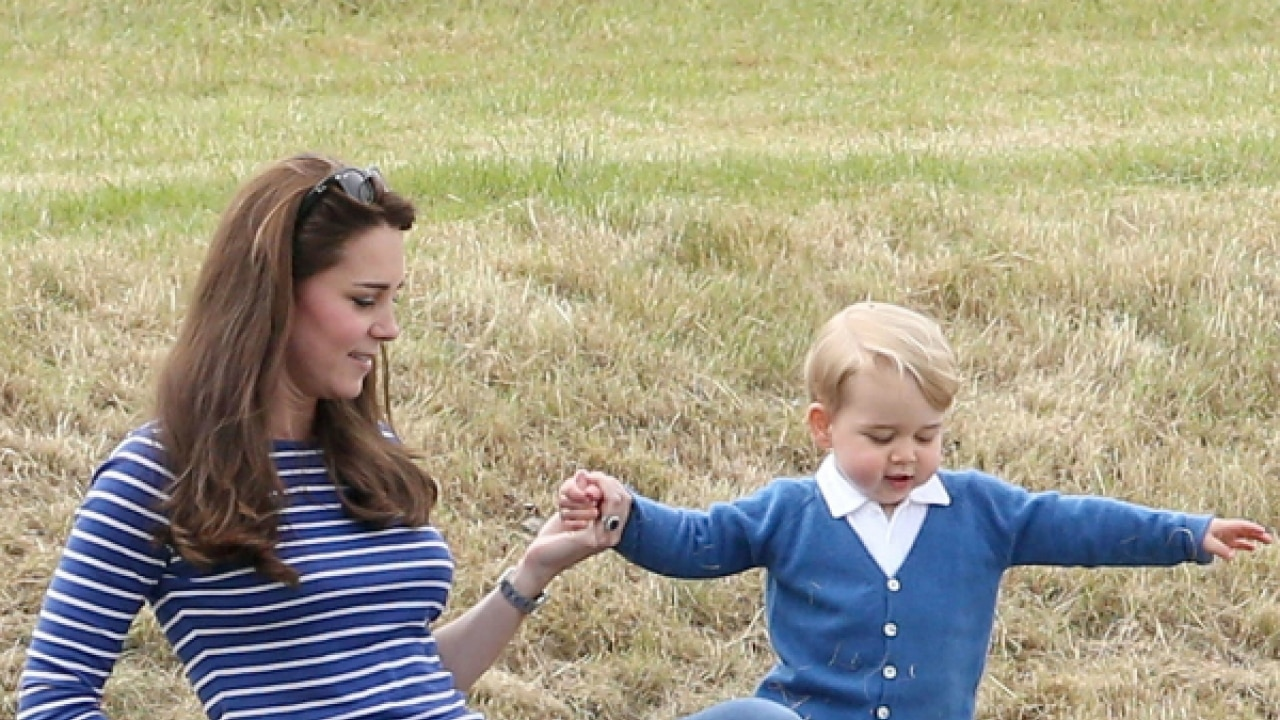 prince george spotted at dad prince william s polo match prince george spotted at dad prince