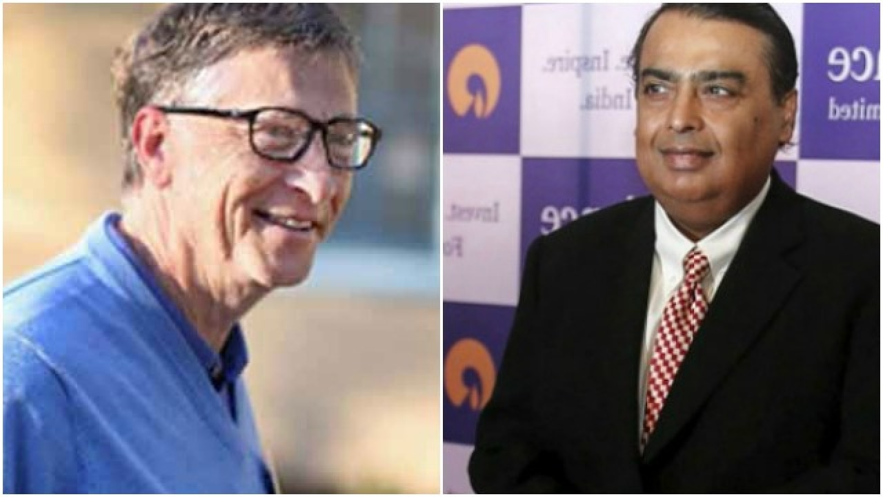 Bill Gates Richest Man In World Mukesh Ambani Richest In India Forbes
