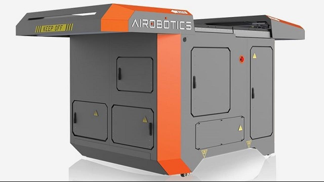 Israeli startup Airobotics builds a Transformer-like base station for its drones