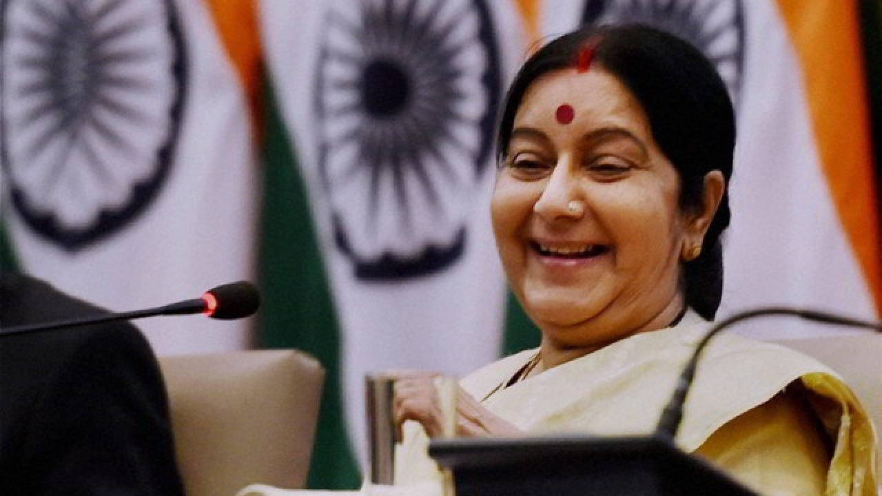Kashmir will not become part of Pakistan 'even at the end of eternity': Sushma Swaraj to Nawaz Sharif