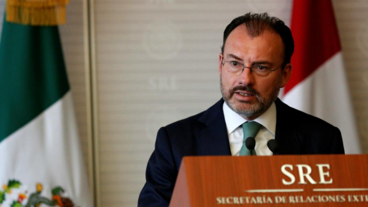 Mexico's top diplomat Videgaray says Venezuela no longer a democracy