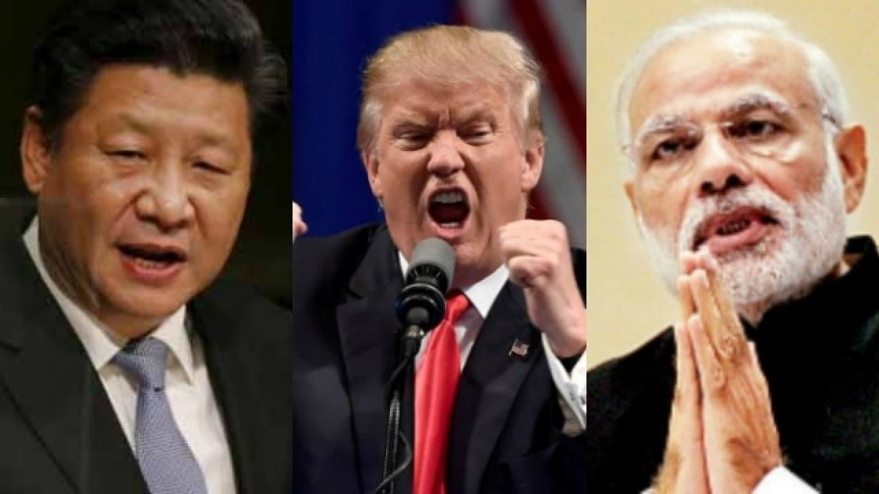 Image result for pics of modi, trump and Xi