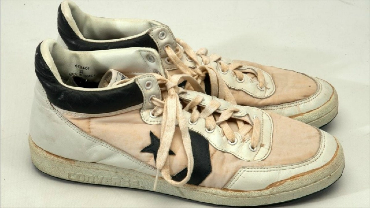 Basketball legend Michael Jordan s Olympic 1984 shoes auctioned for  jaw-dropping amount bb7a56d88a
