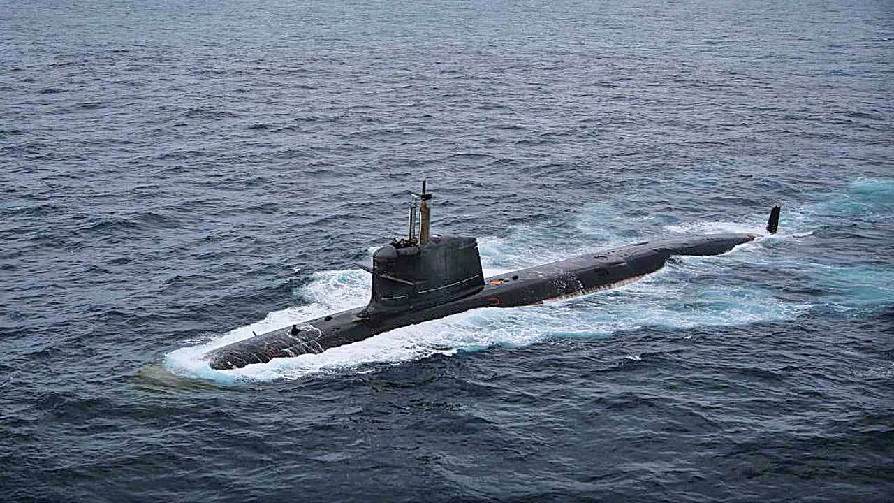 INS khanderi second submarine of the P75 Scorpene Class