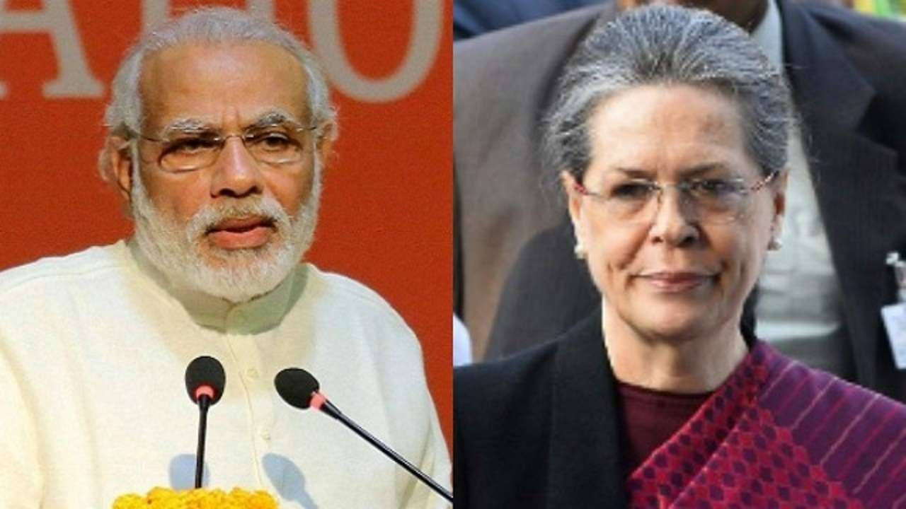 Image result for sonia gandhi modi