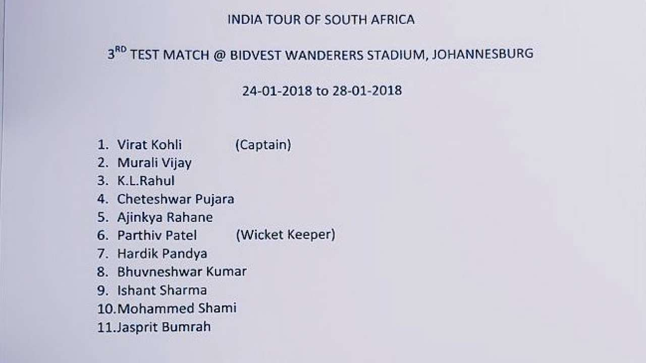 South Africa v/s India, 3rd Test: This is when India last