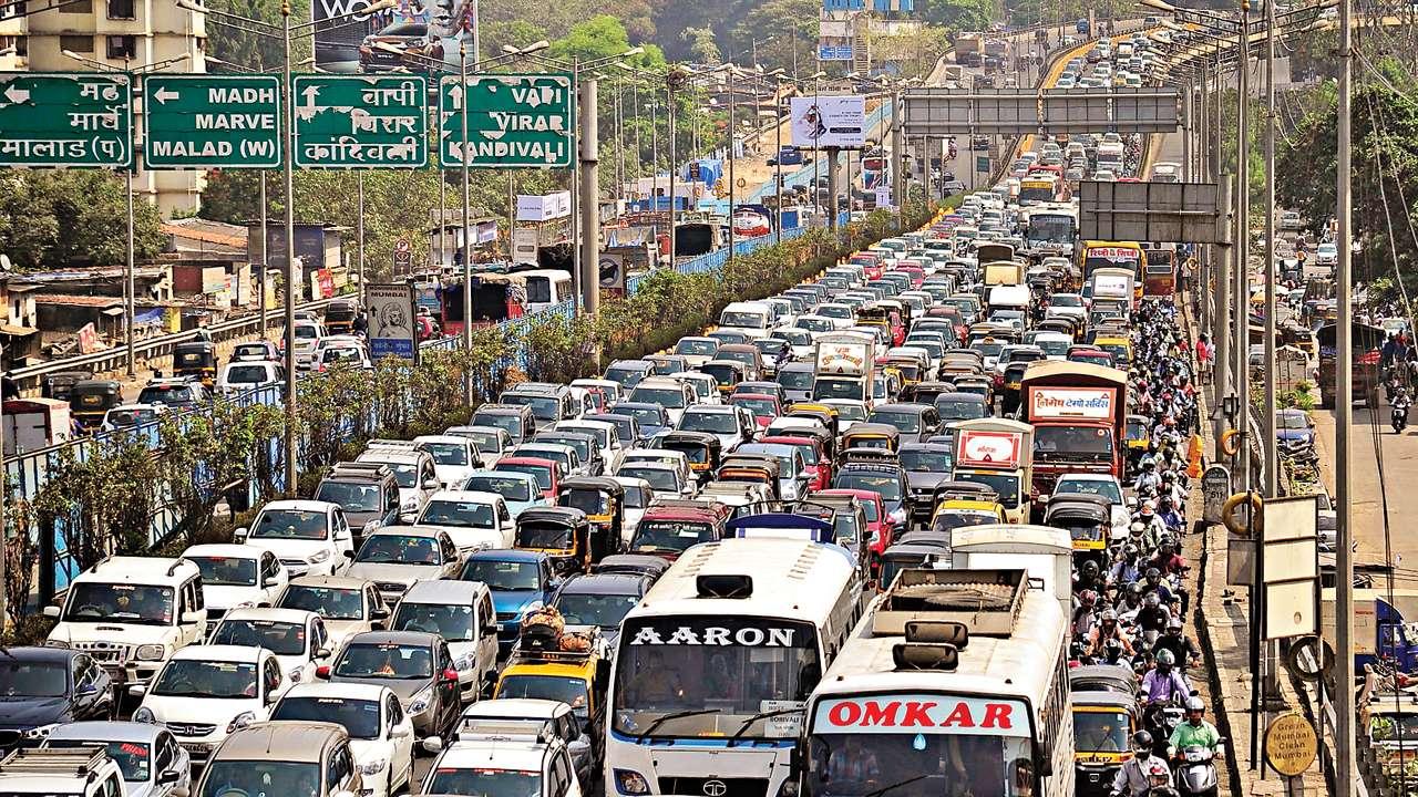 Image result for Mumbai Traffic Jam