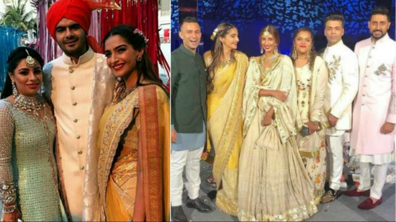 Sonam Kapoor Wedding.Sonam Kapoor Beau Anand Ahuja Have A Gala Time At Mohit