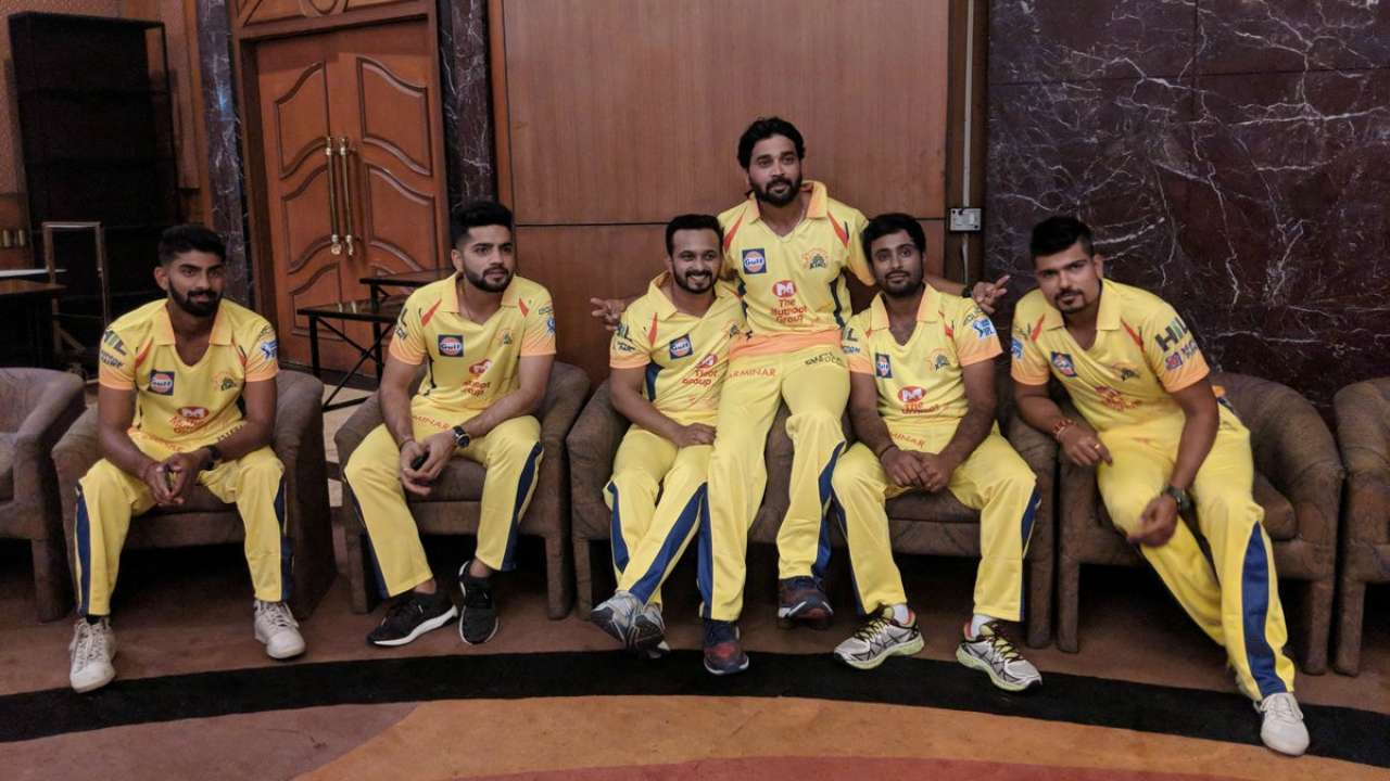 b483fa000 See Pics: Return of the famous yellow as CSK unveil IPL 2018 jersey