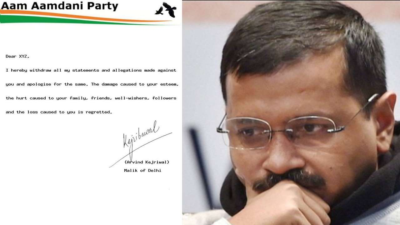 People are sharing their 'apology letter' from Arvind Kejriwal