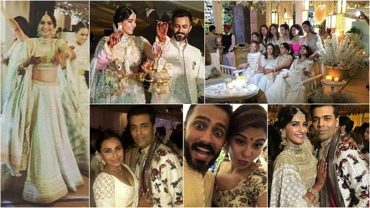 43cde6a74a #SonamKiMehendi: Here are all the inside pictures and videos from Sonam  Kapoor-Anand Ahuja's pre-wedding bash