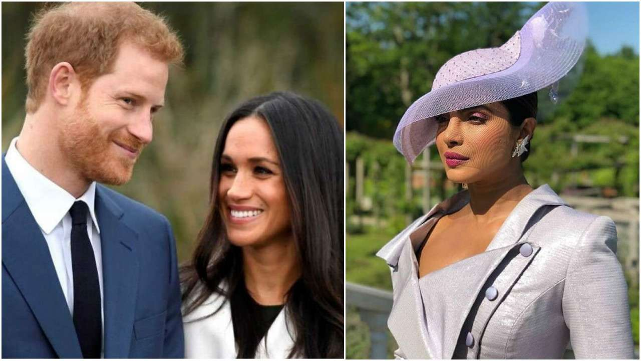 royal wedding priyanka chopra finally arrives at friend meghan markle s wedding with prince harry check pics inside royal wedding priyanka chopra finally