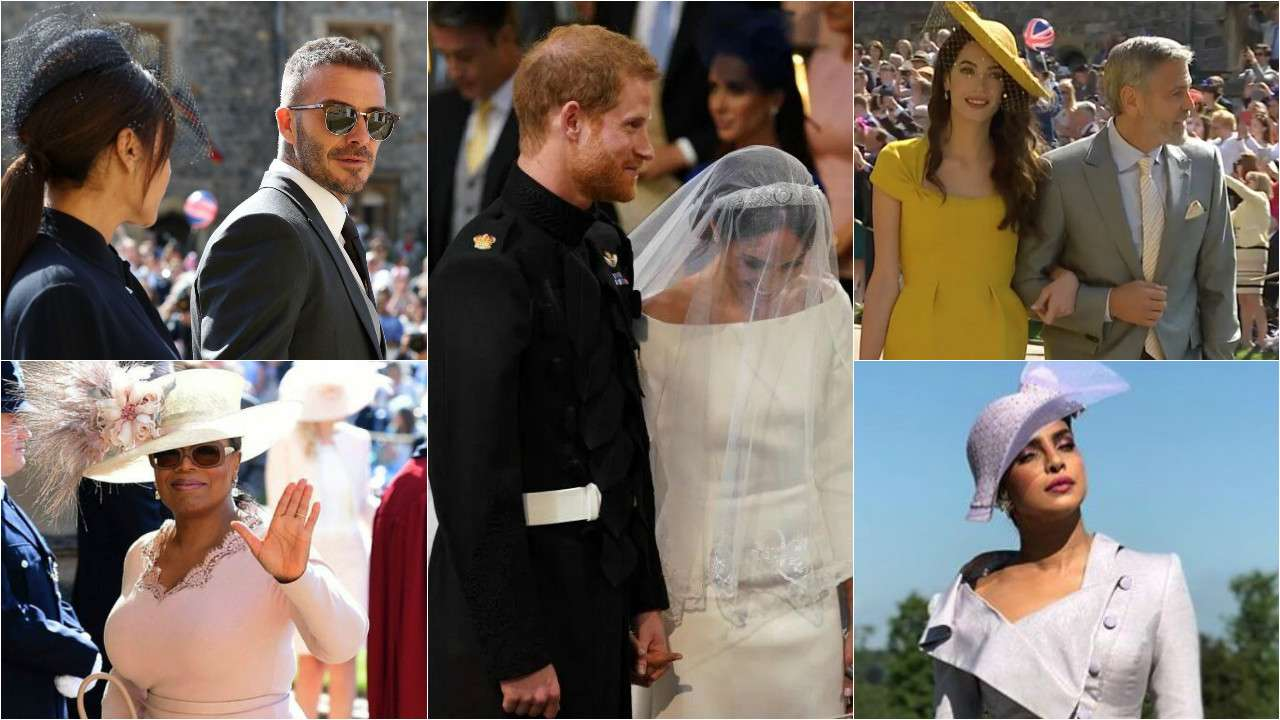 Amal Clooney Royal Wedding.In Pics George Clooney David Beckham Oprah Winfrey And Others At