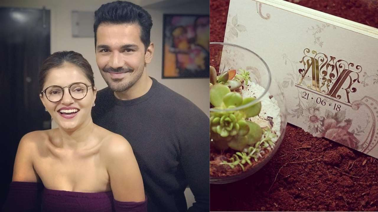 Here S A Look At Rubina Dilaik And Abhinav Shukla Nature Friendly Wedding Invites