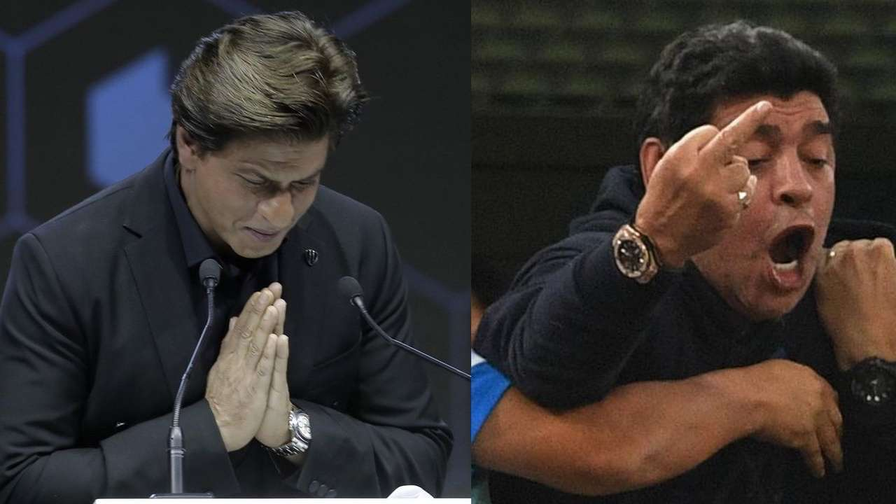 0aa26d576b9 FIFA 2018  Shah Rukh Khan was just stressed as Diego Maradona during  Argentina s win over Nigeria