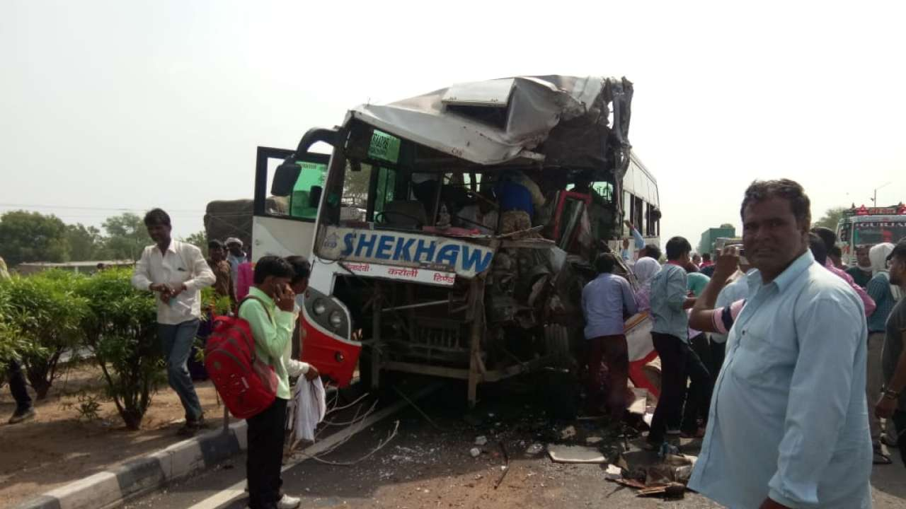 rajasthan: at least four killed after buses collide on jaipur agra