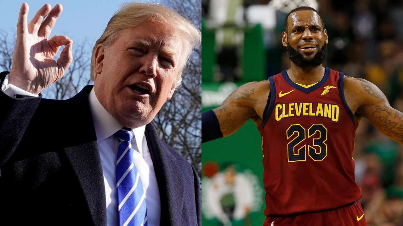 5892c3e2bfb7 Donald Trump aims tweet at LeBron James
