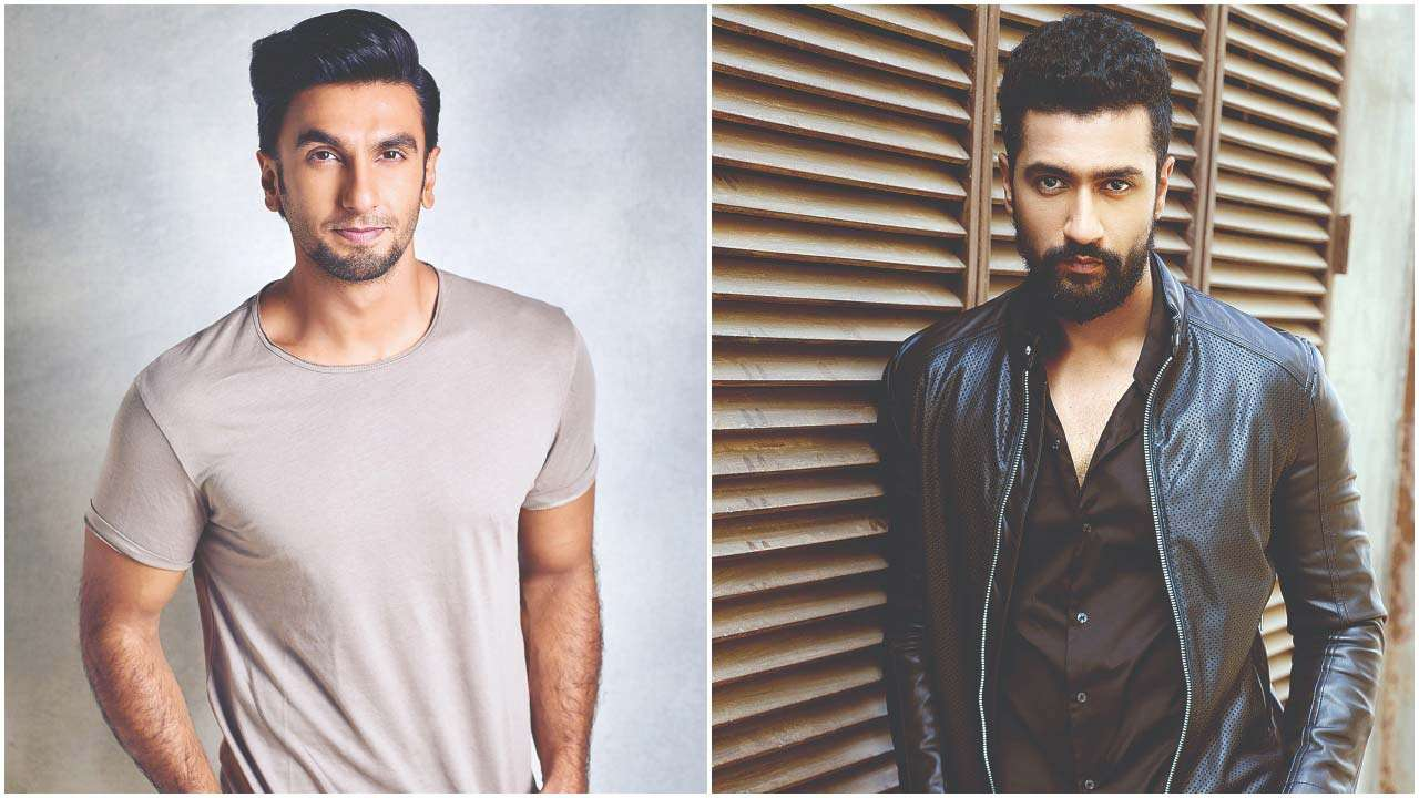 Ranveer Singh and (right) Vicky Kaushal