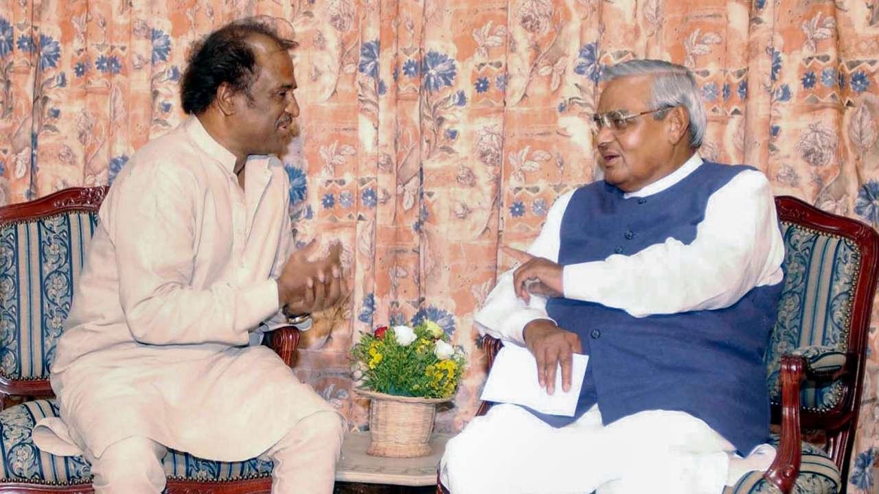 Atal Bihari Vajpayee with former Prime Minister Chandrashekhar