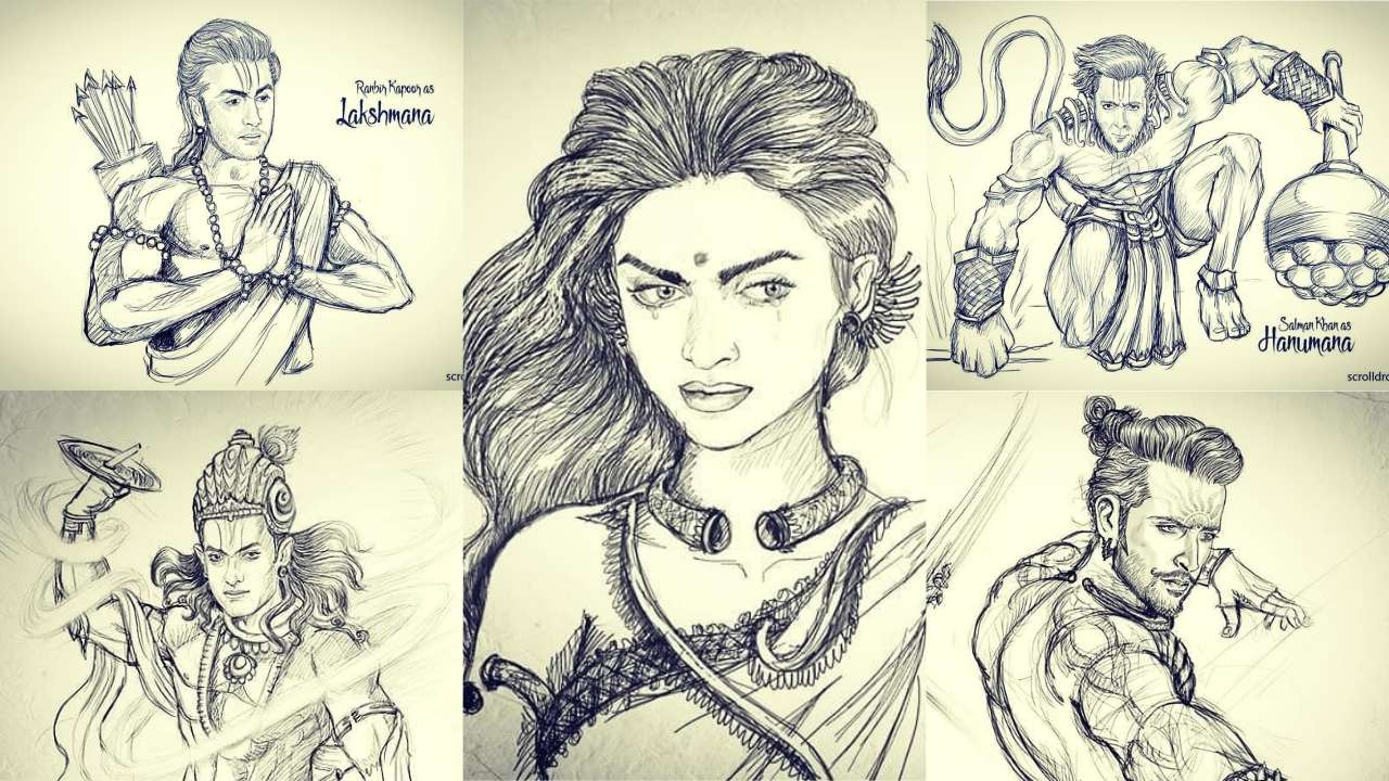 Deepika as Draupadi, Aamir Khan as Krishna -This artist is re-imagining Indian epics and the result is out of this world