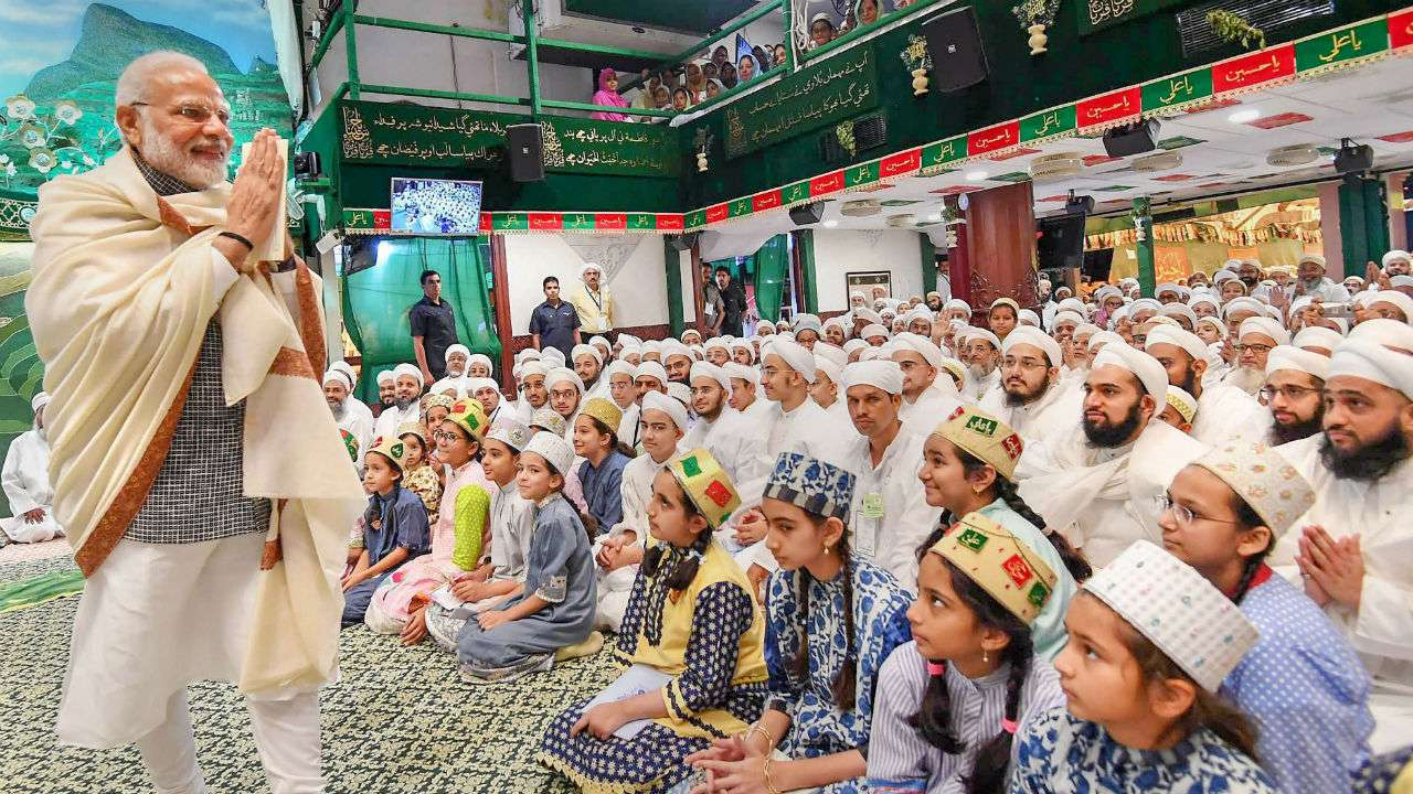 Narendra Modi became the first PM to address the religious congregation of Dawoodi Bohra community