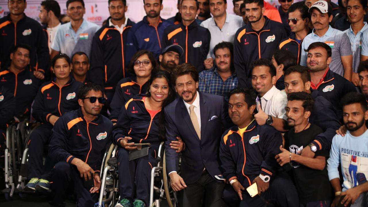 Learnt the lesson of celebrating incompleteness: Shah Rukh Khan sends off Indian contingent to Para Asian Games