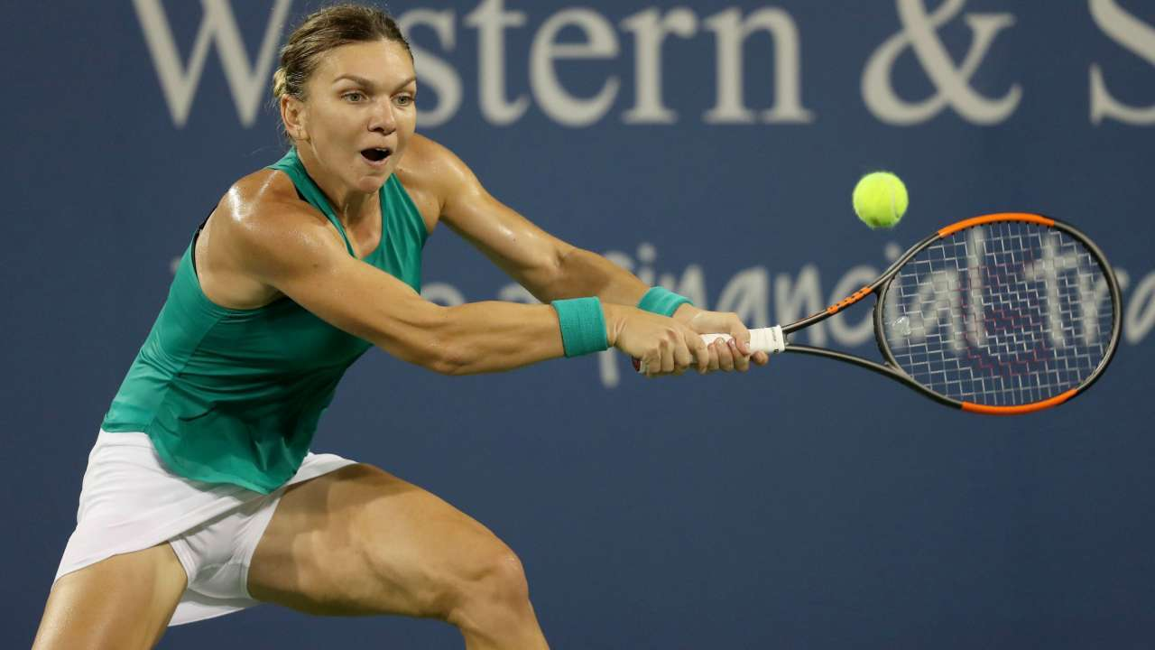Simona Halep – Practice Prior to the Start of the Miami ...