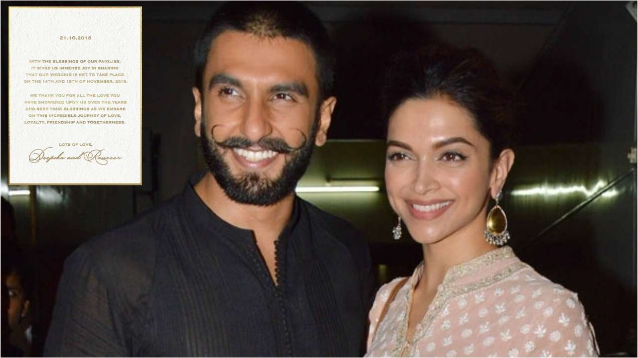 Image result for deepika-padukone-ranveer-singh-announce-their-wedding-date
