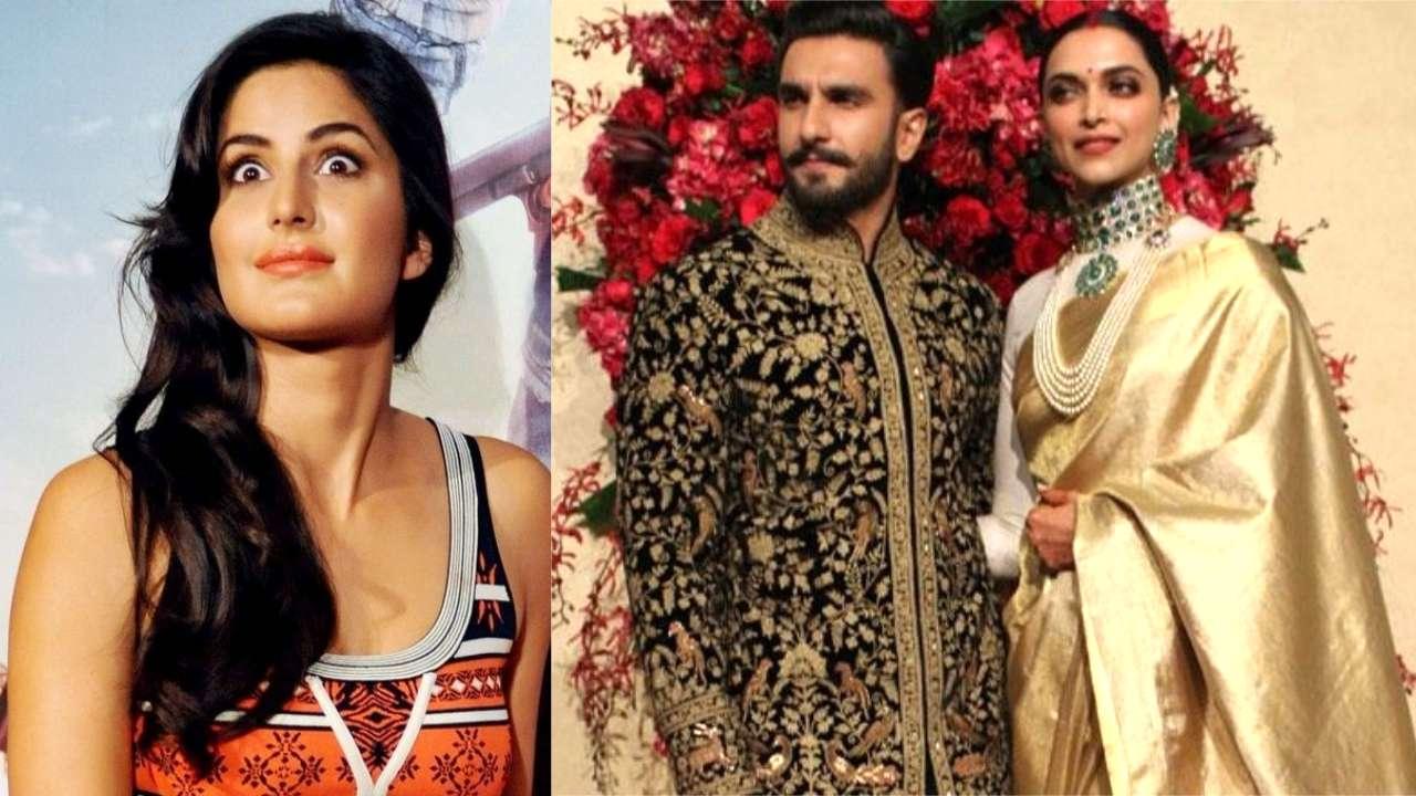 Katrina Kaif receives Ranveer Singh- Deepika Padukone's Mumbai ...