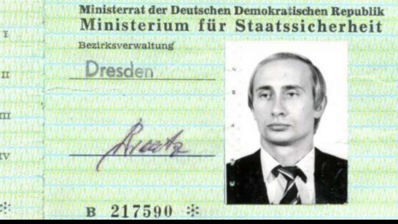 Vladimir Putin's 30-year-old identity card as KGB spy discovered in German archives