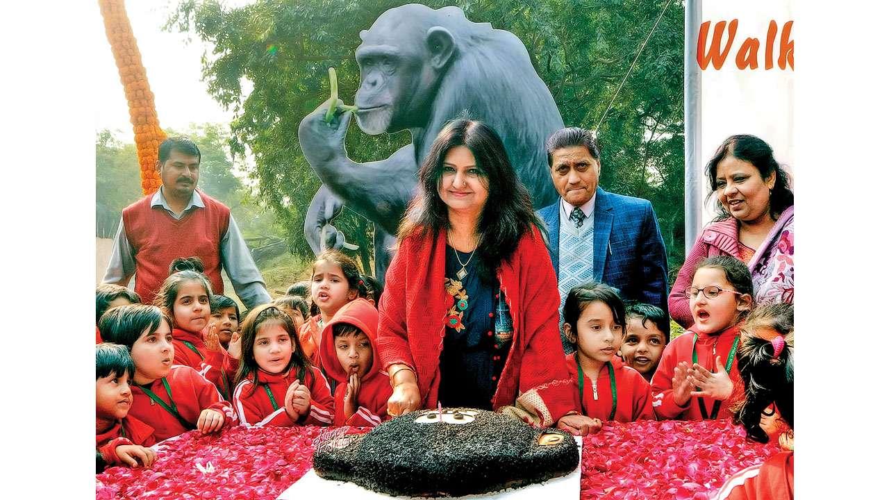Delhi: Asia's oldest chimpanzee turns 59