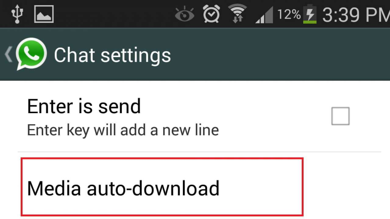 Select the Media Auto-Download option