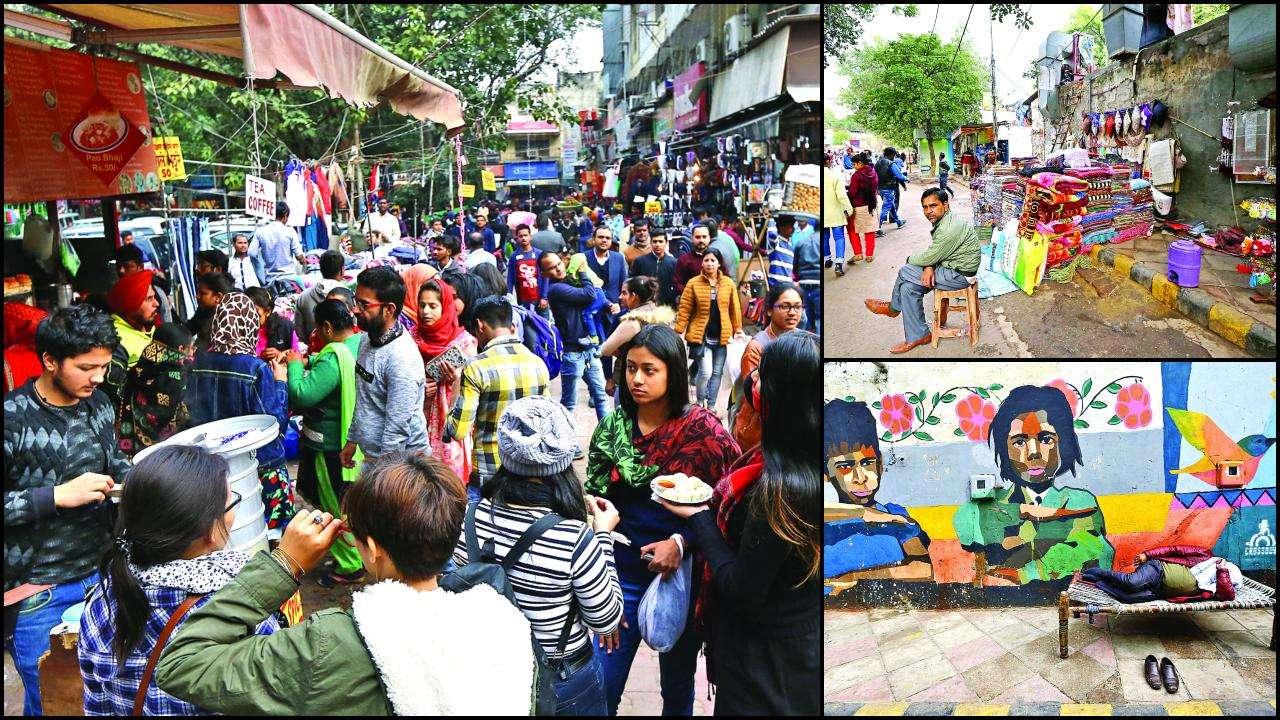 South Delhi: No space for pedestrians at Sarojini Nagar