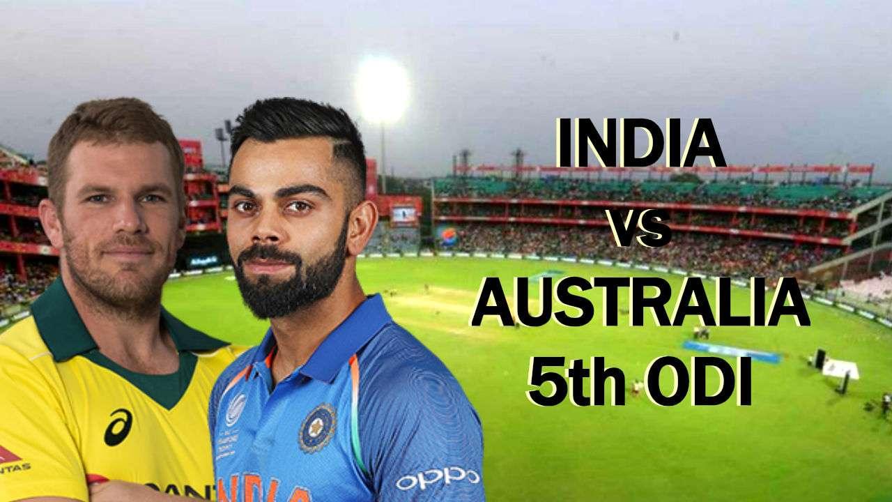 India Vs Australia 5th Odi >> India Vs Australia 5th Odi Live Streaming Preview Teams