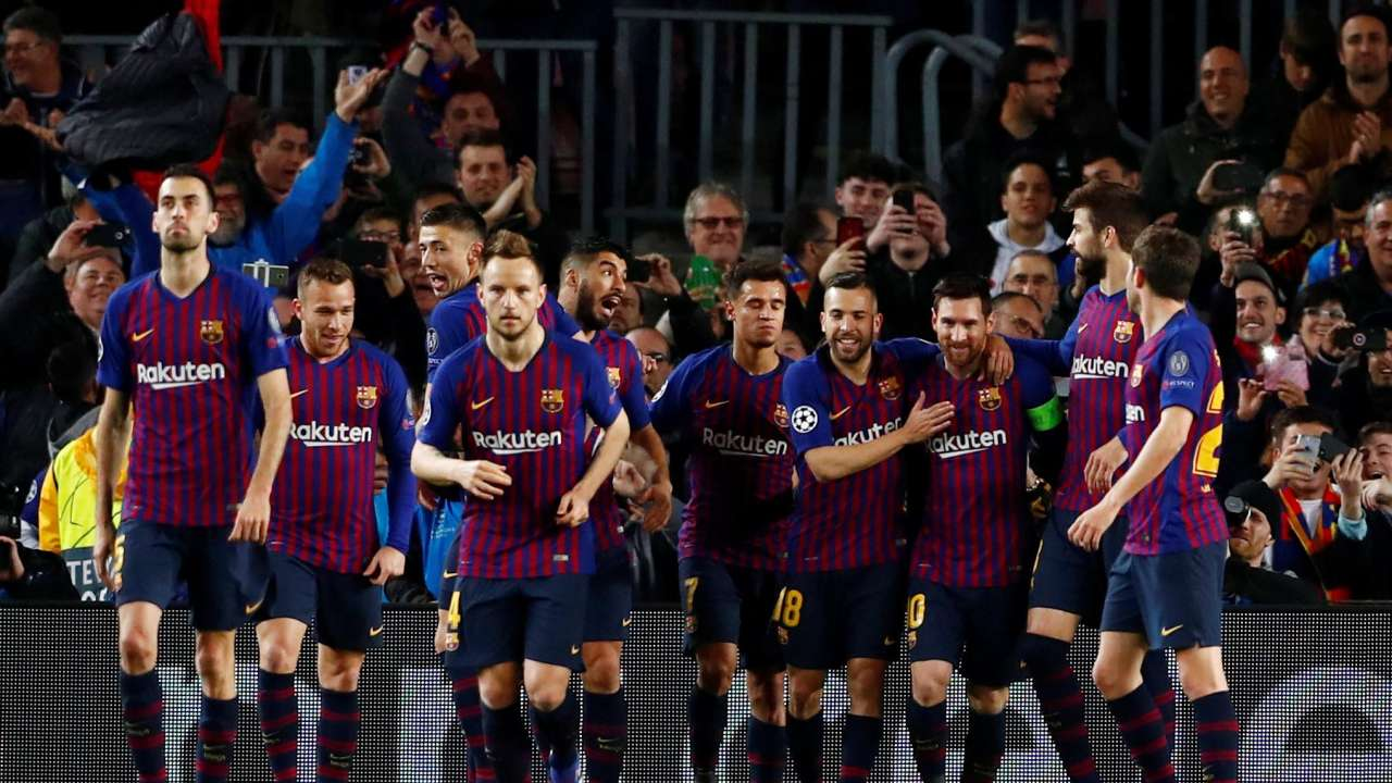 Champions League Barcelona Lyon Lionel Messi Leads Demolition Of Lyon To Take Barcelona Through Ucl