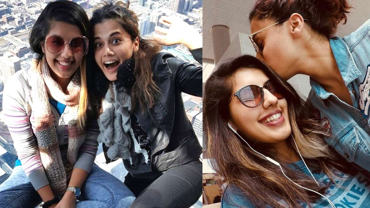Image result for taapsee pannu with sister