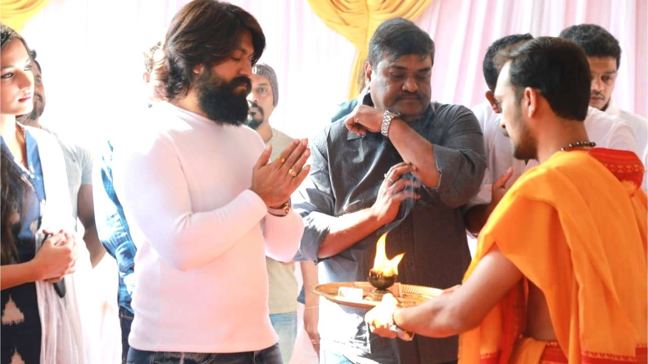 PICS: 'KGF' star Yash begins shooting for 'KGF 2' with a