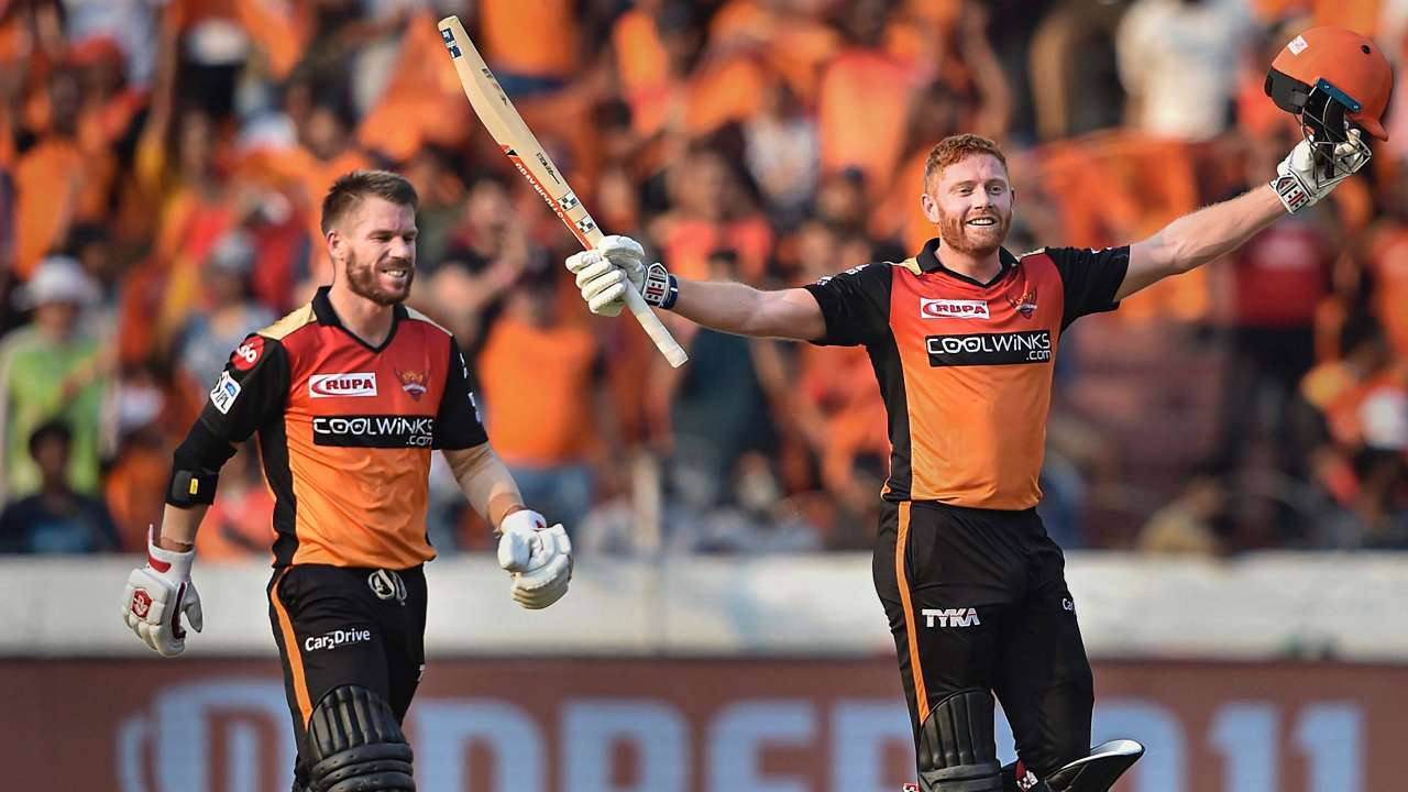 IPL 2019: Jonny Bairstow-David Warner hit centuries to set record opening stand- All records made in SRH vs RCB match